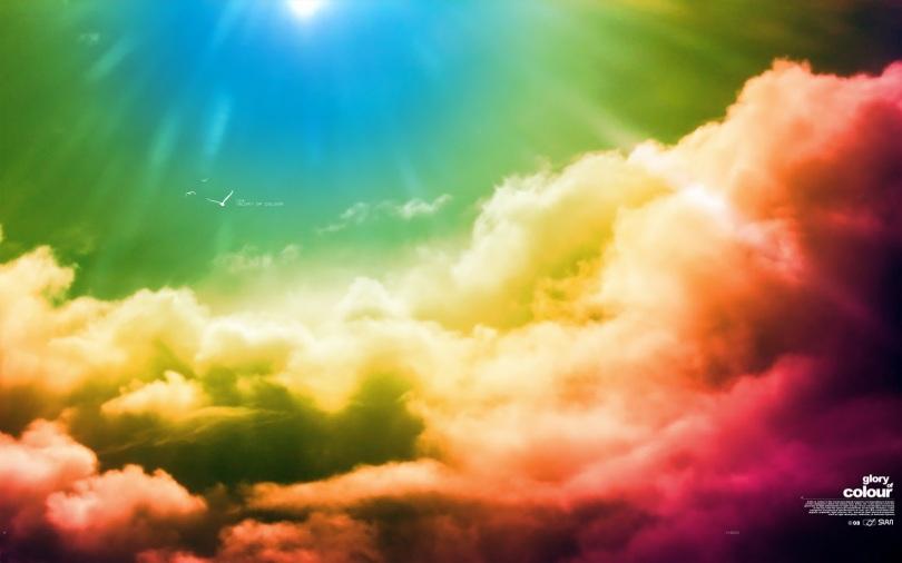 A multicoloured sky