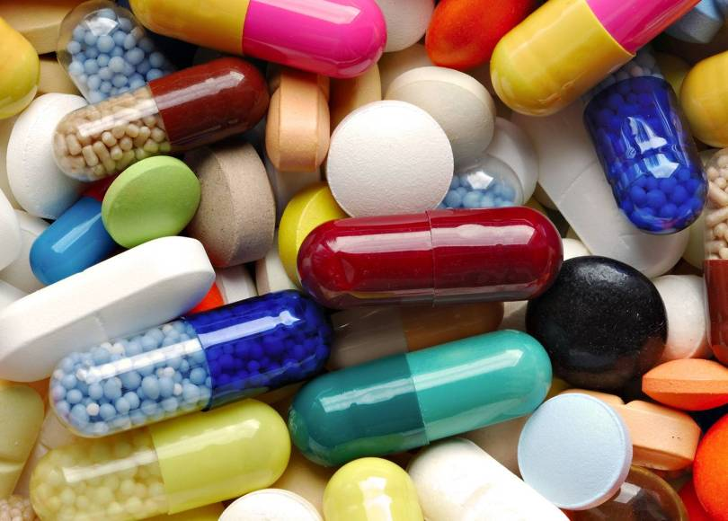 A selection af colourful pills