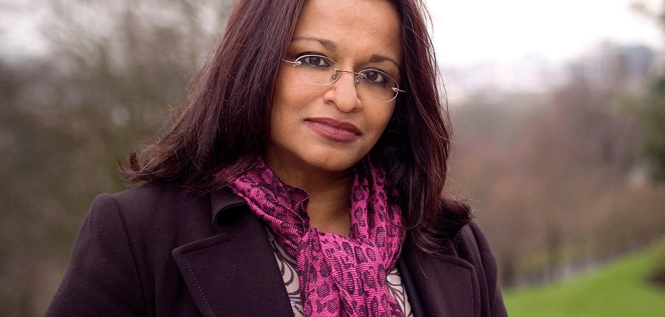 A portrait photo of Mona Siddiqui