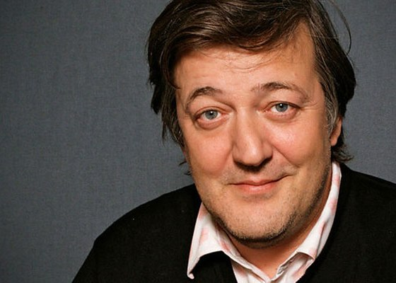 A portrait photo of Stephen Fry