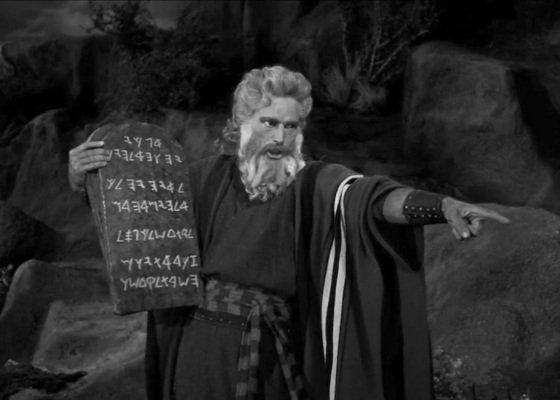 Moses black and white