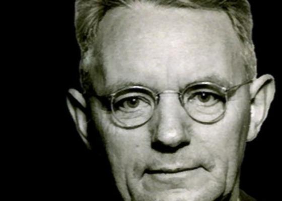 A black and white photo of Thomas Watson