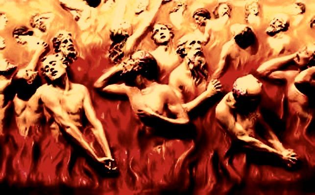 A depiction of purgatory