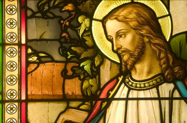 Stained Glass Depicting Jesus Christ March 4, 2004