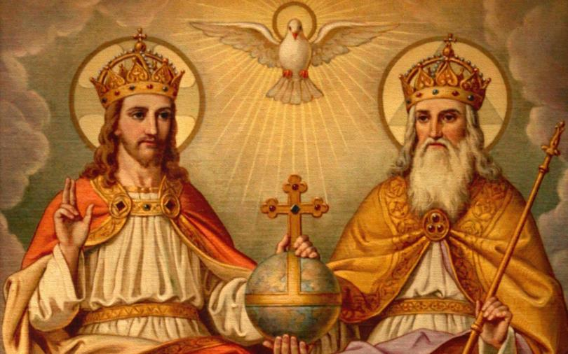 A painting representing the Trinity