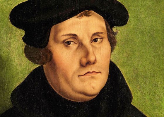 A painting of Martin Luther