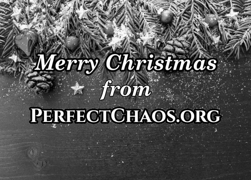 Merry Christmas black and white