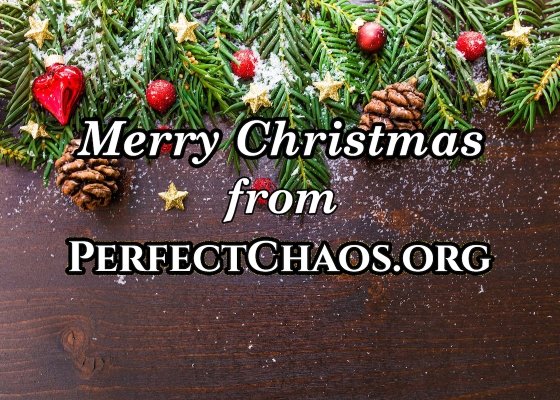 A Christmassy picture showing a 'Merry Christmas' message