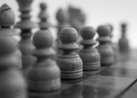 Chess game black and white