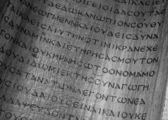 Parchment black and white
