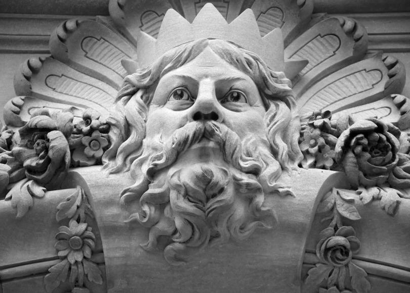 Greek God Zeus black and white