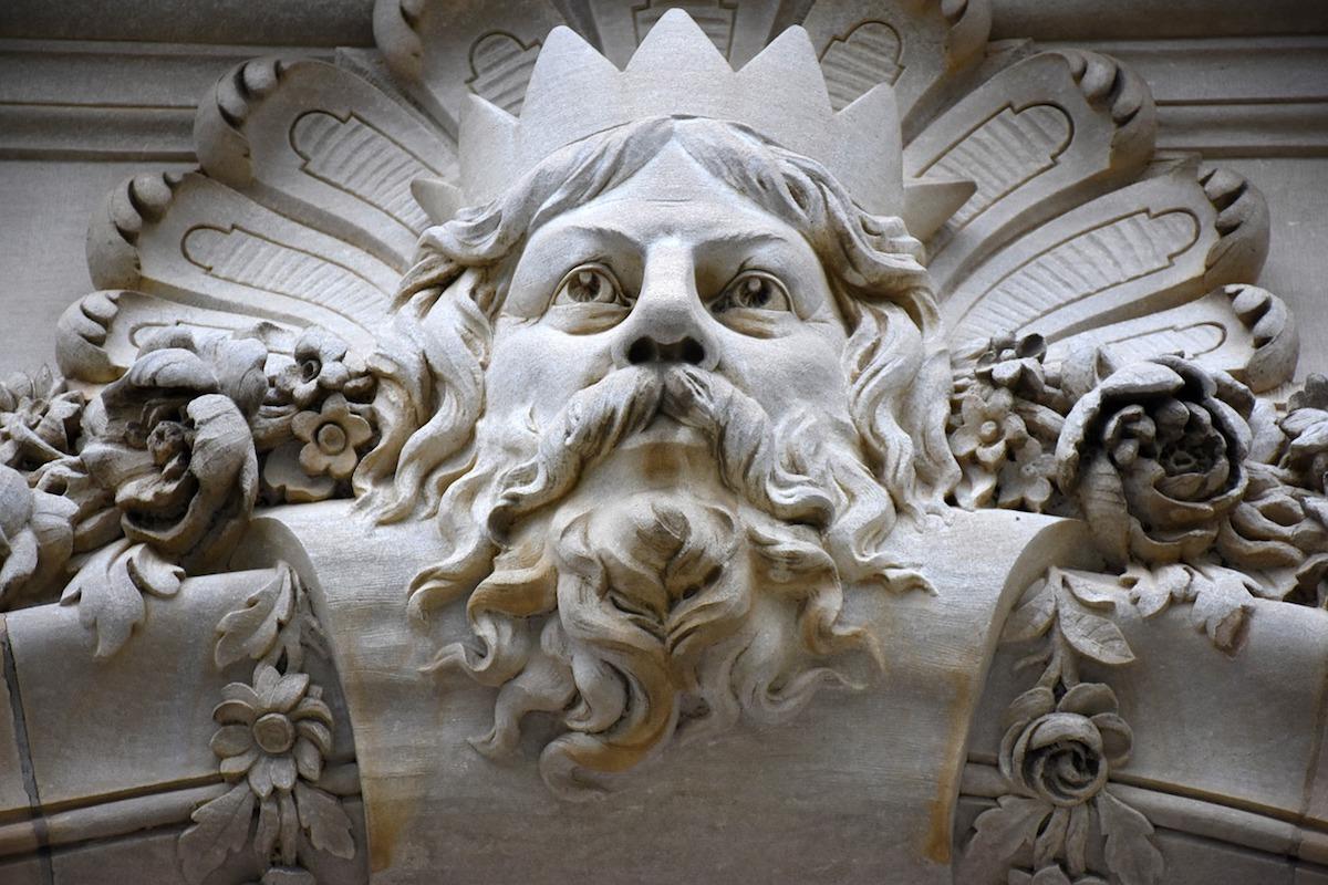 A carving depicting the Greek god Zeus