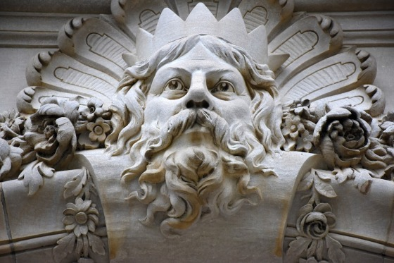 A carving depicting the Greek god Zeus