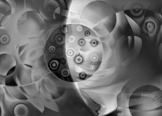 Atoms black and white