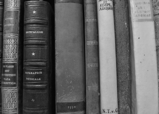 Latin books black and white