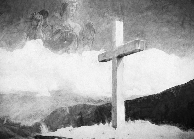 Cross painting black and white