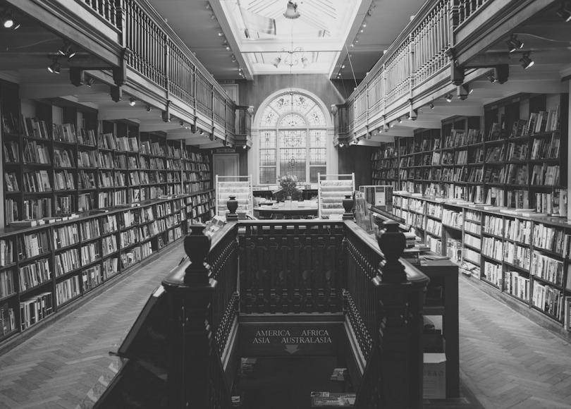 Library black and white