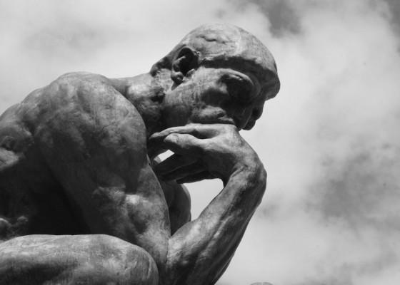 Scepticism black and white