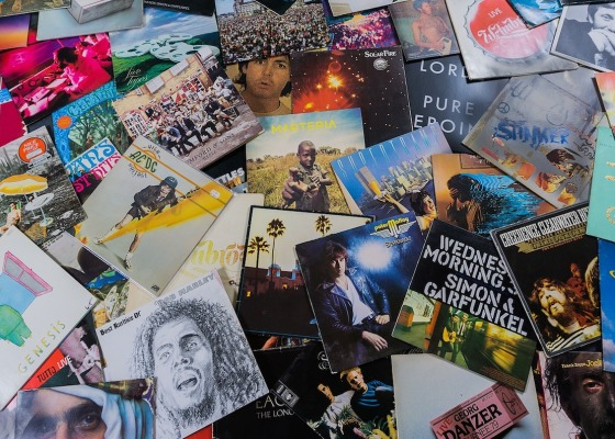 A selection of classic vinyl album covers