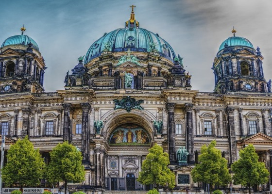 Berlin Cathedral with clouds in the background
