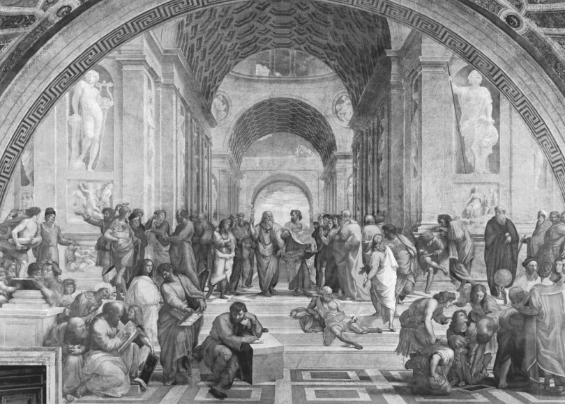 School of Athens black and white