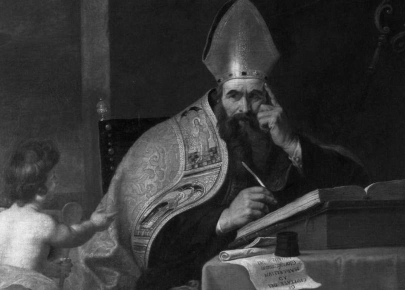 Augustine of Hippo black and white