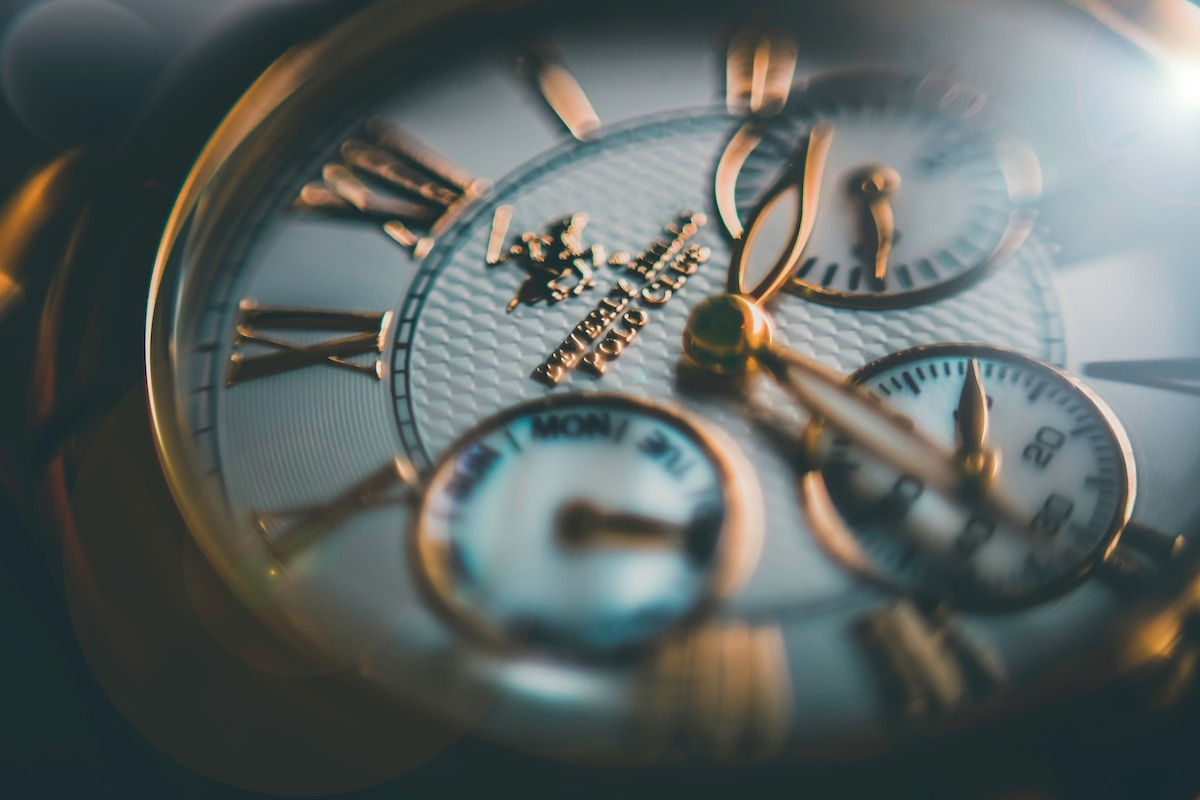 A close up image of a watch