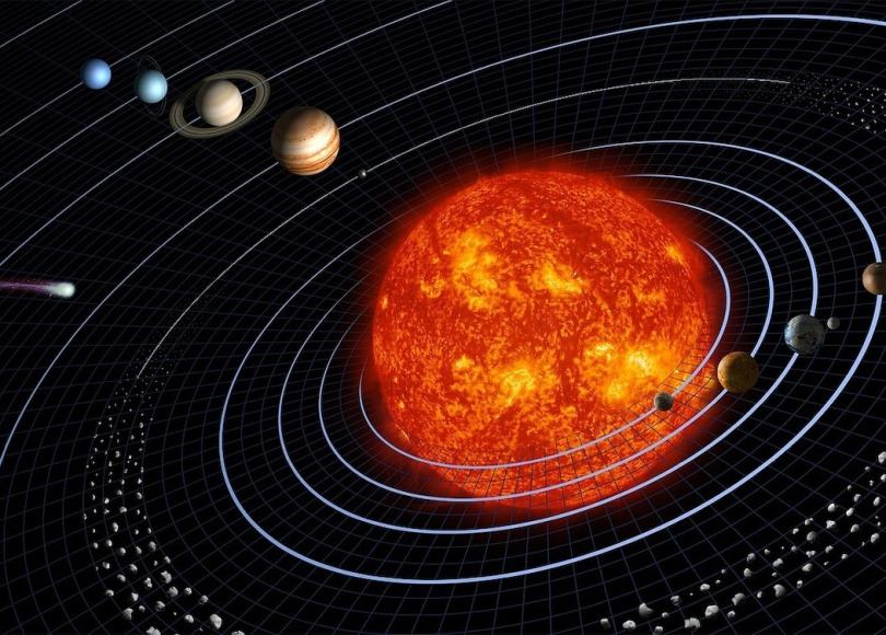 A digitised image of our solar system
