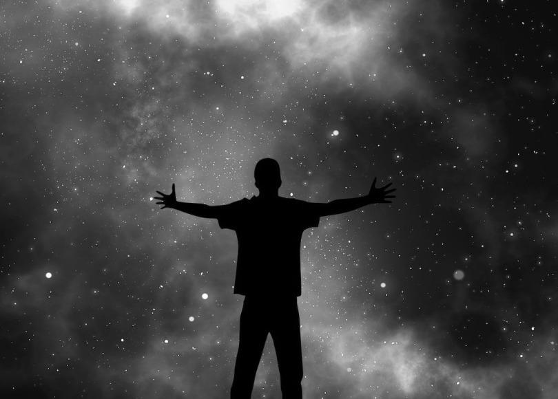 Universe black and white