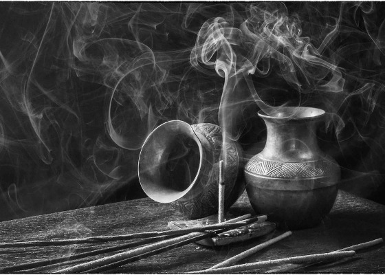 Incense black and white