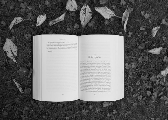 Open book black and white