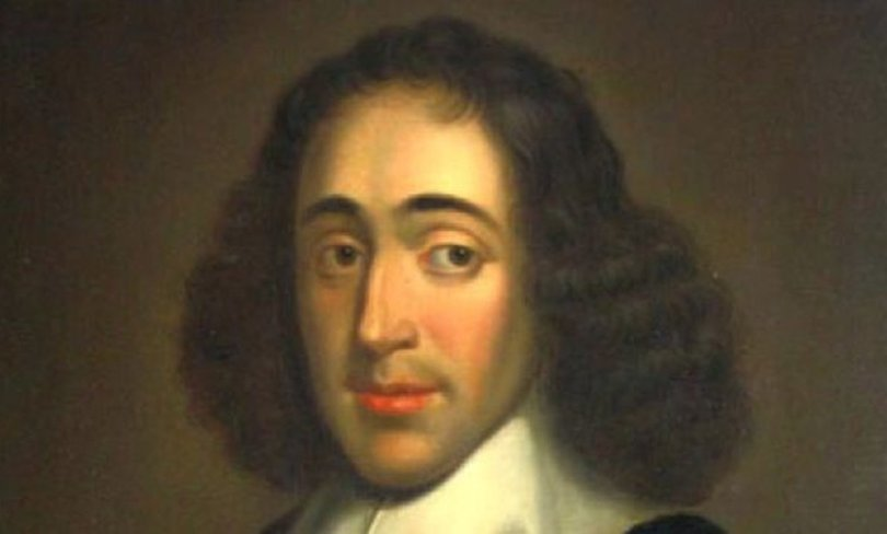 A portrait painting of Baruch Spinoza