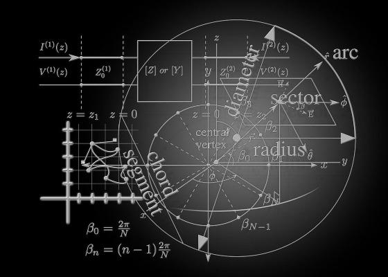 Mathematics black and white