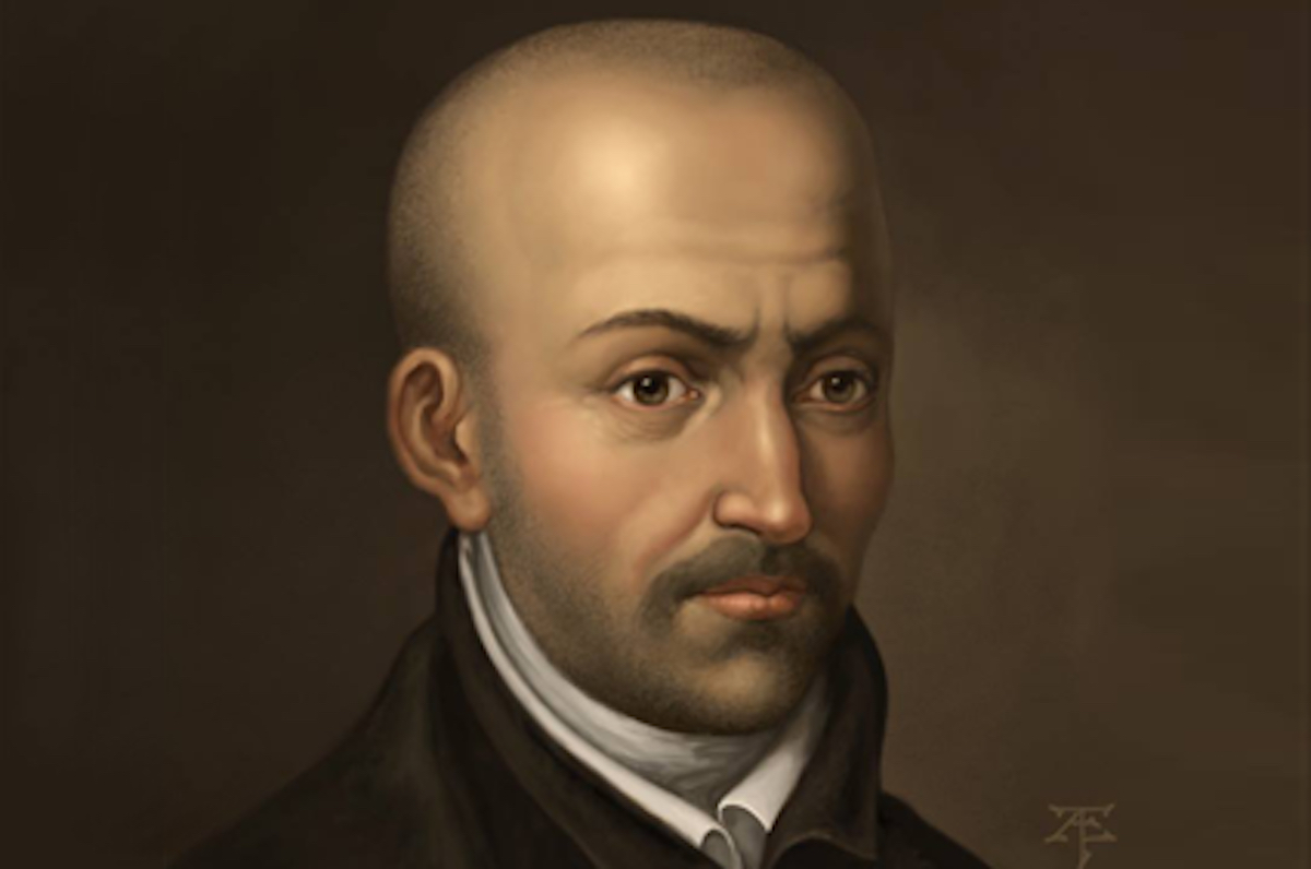 A portrait painting of Luis de Molina