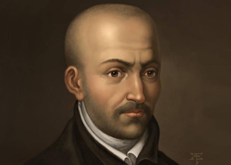 A portrait painting of Luis de Molina