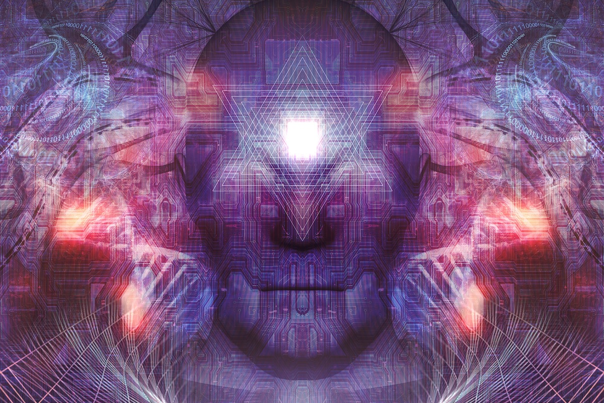 An abstract picture of a head and consciousness