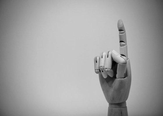 Finger black and white