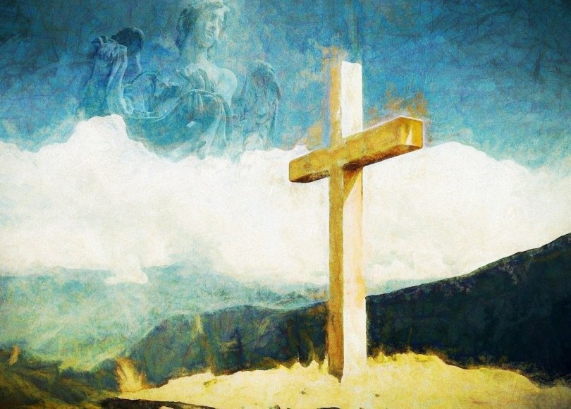 A painting of a cross