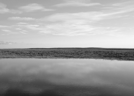 Open landscape black and white
