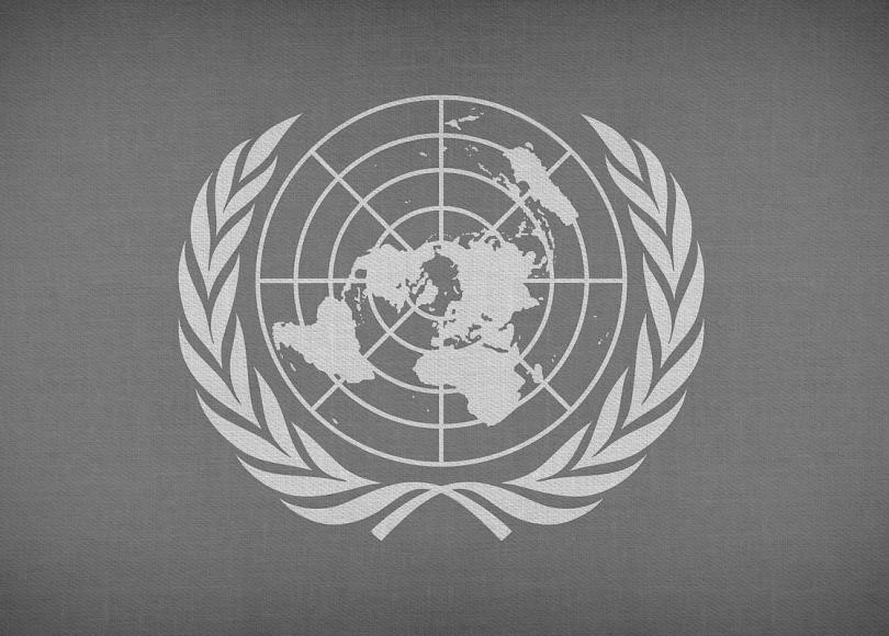 UN logo black and white
