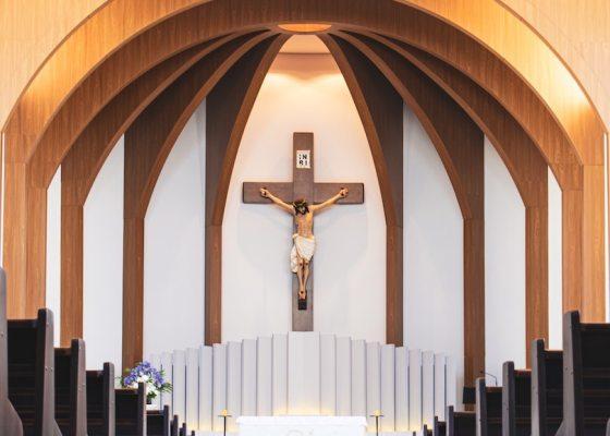 Church with cucifix