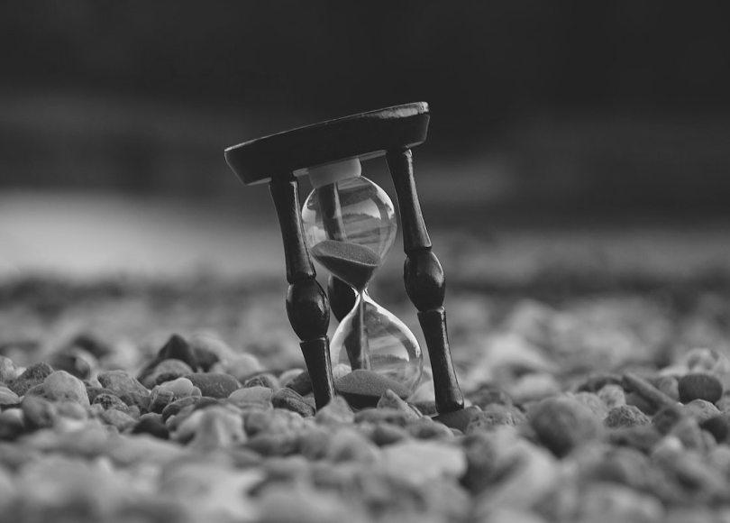 Hourglass black and white