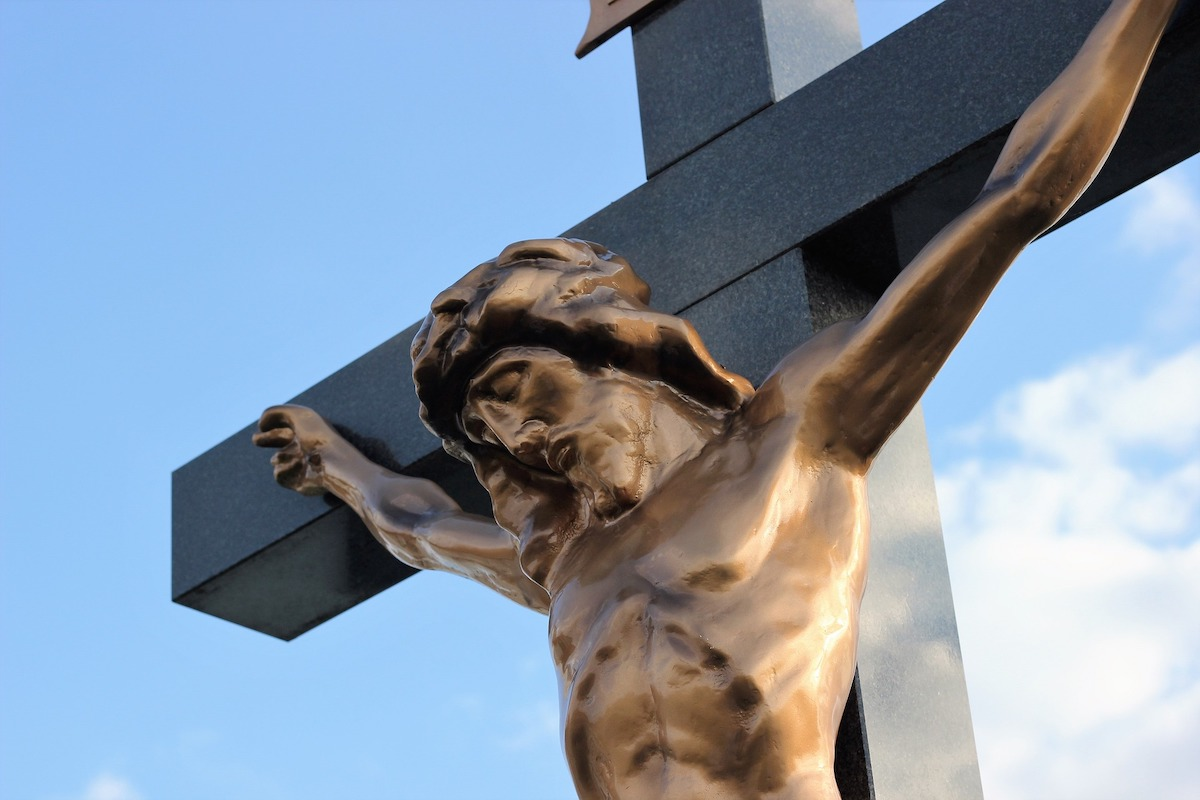 Jesus on the cross statue