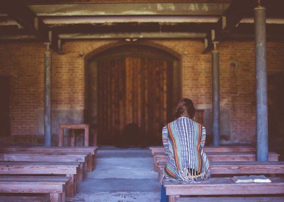 Lady in church