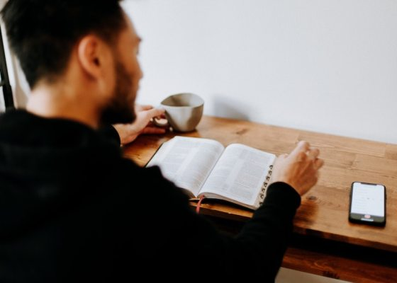 Man studying Scripture