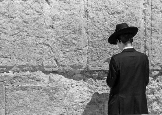 Jewish man black and white