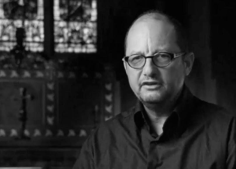 Bart Ehrman in church black and white