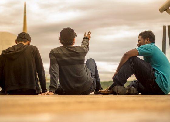 Men sitting