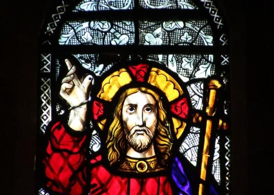 Stained Glass Window Jesus