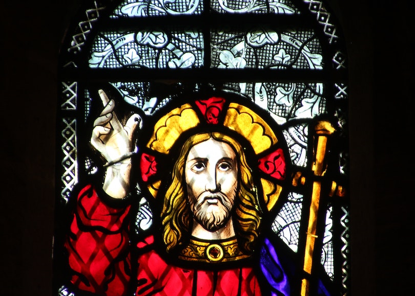 Stained Glass Window Jesus